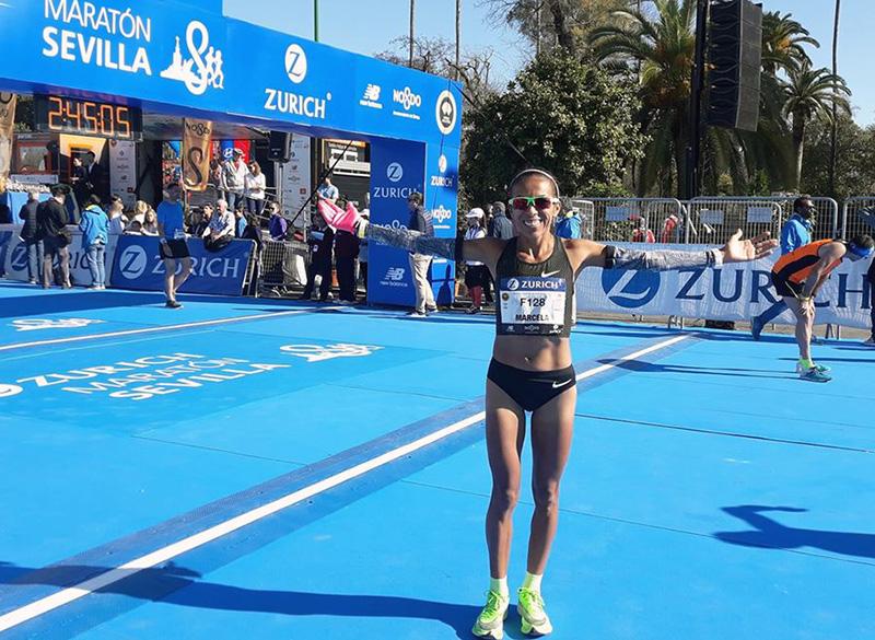 La chaqueña Marcela Gómez batió el récord nacional de Maratón en una prueba de España