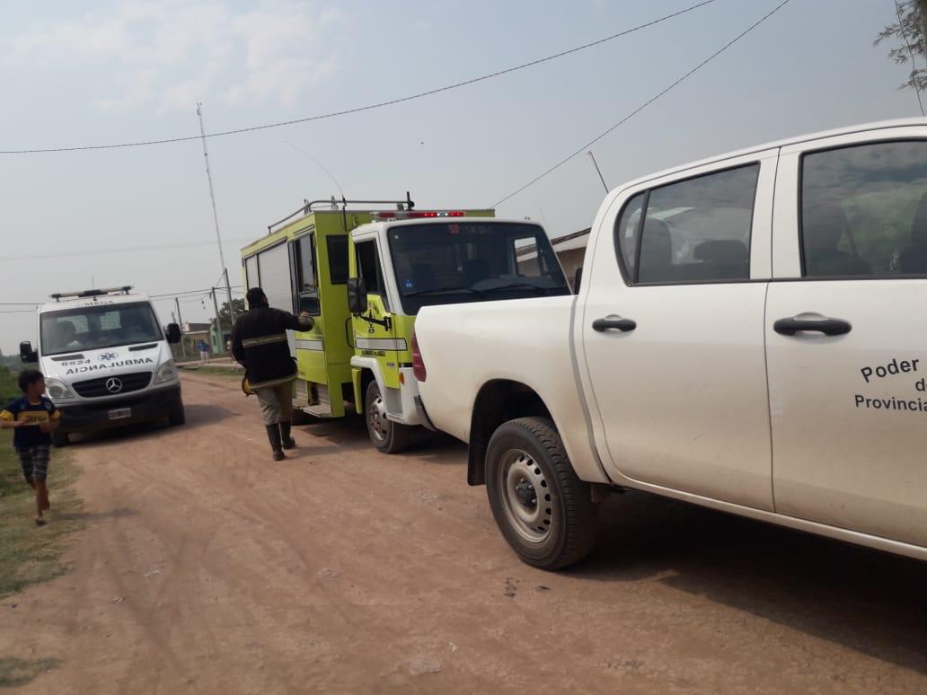 Villa Angela:Amenazó con prenderse fuego con un bidón de nafta y una de sus hijas en brazos