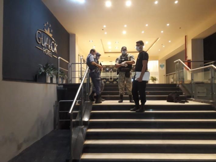 Operativo de prevención en hotel céntrico de Sáenz Peña por posible coronavirus de 27 motoqueros brasileros