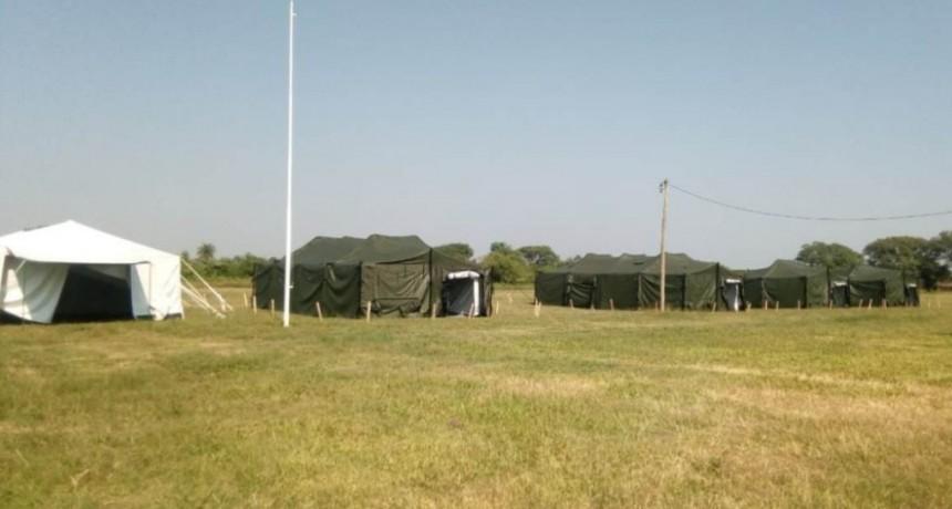Carpas del Ejército: son solo para prácticas en caso de necesitarlas