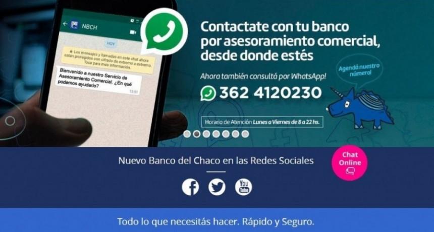 El Banco del Chaco habilita línea de Whatsapp para gestiones