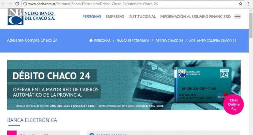 El Nuevo Banco del Chaco informa acerca de trámites online para Solicitud y Gestión de Tarjeta de débito.