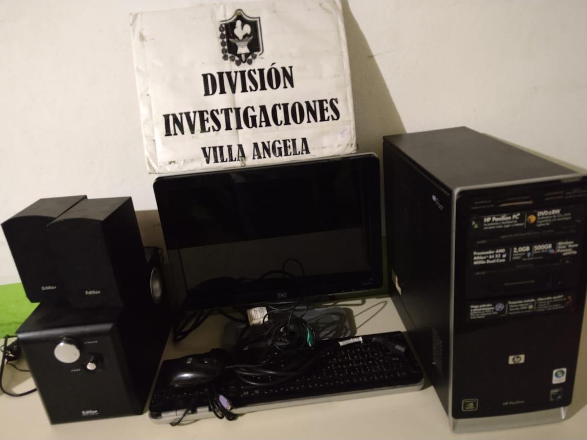 VILLA ANGELA: RECUPERAN UNA PC ROBADA A UN COMERCIO LOCAL