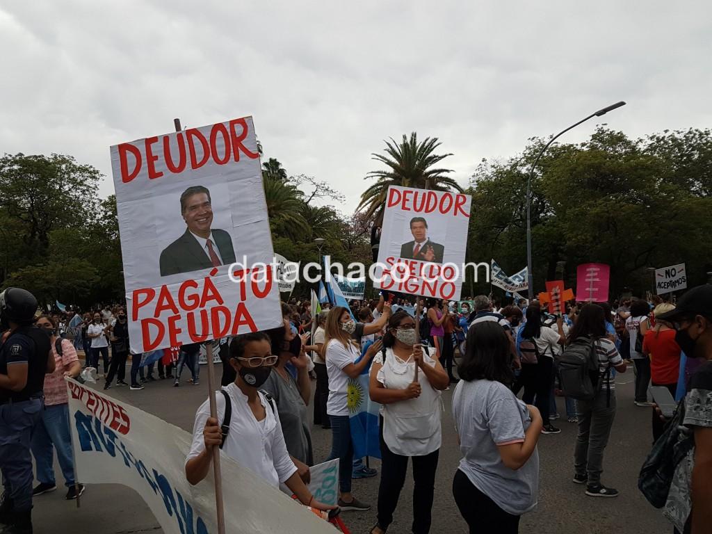 Docentes se manifiestan afuera de Casa de Gobierno: confirmaron un nuevo paro por tres días