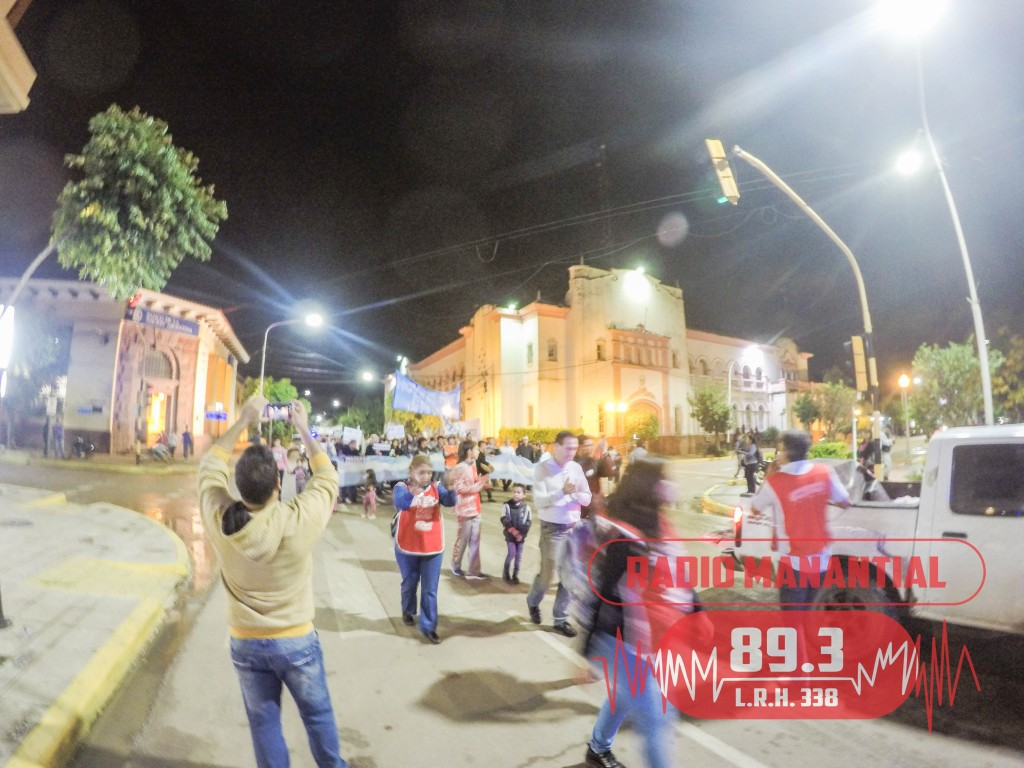 Se Realizó la marcha multisectorial del Frente Docente en reclamo por Mejoras salariales y de Infraestructura