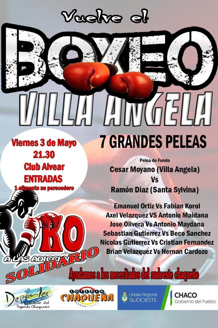 Boxeo Solidario: K.O. a las Adicciones! en Villa Angela
