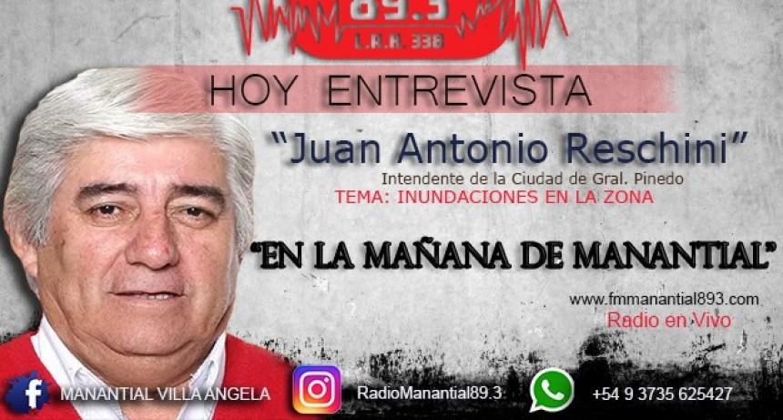 Juan Antonio Reschini Intendente de Gral. Pinedo Comunicación Telefónica en Exclusiva con LA MAÑANA DE MAMANTIAL