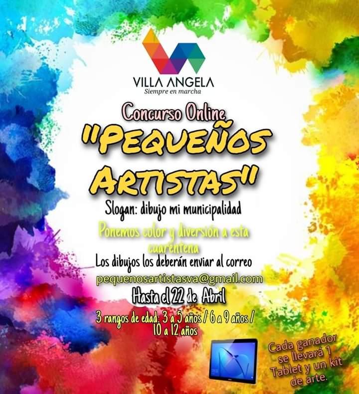 Villa Ángela:  CONCURSO DE ARTE PARA LOS NIÑOS