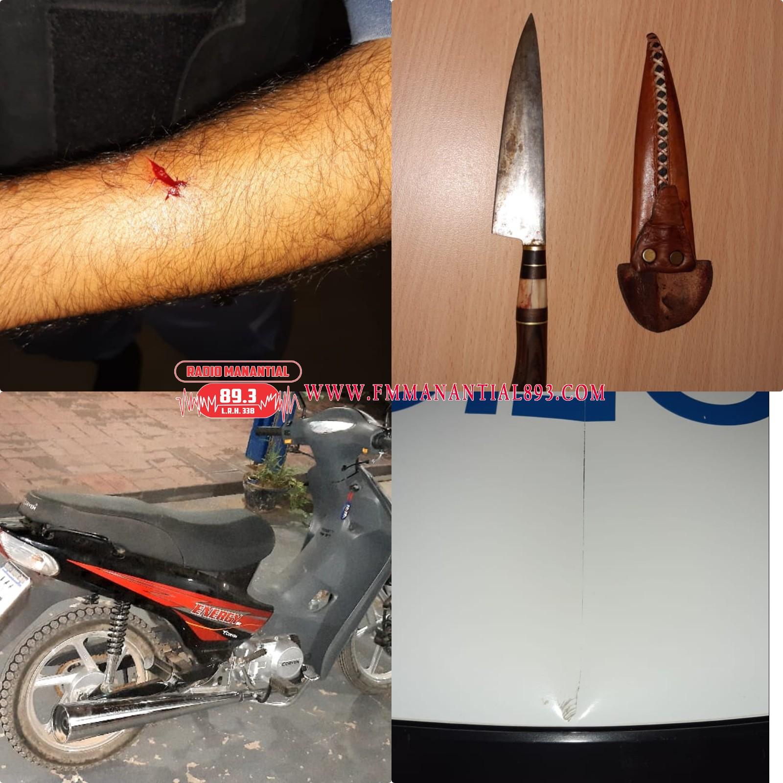 LA TIGRA: TRAS UN DISTURBIO, AGREDIERON A MACHETAZOS AL PERSONAL POLICIAL