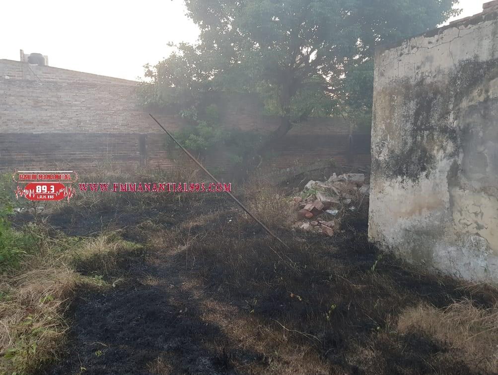 Villa Ángela: Continúan los incendios intencionales en pastizales y basura.