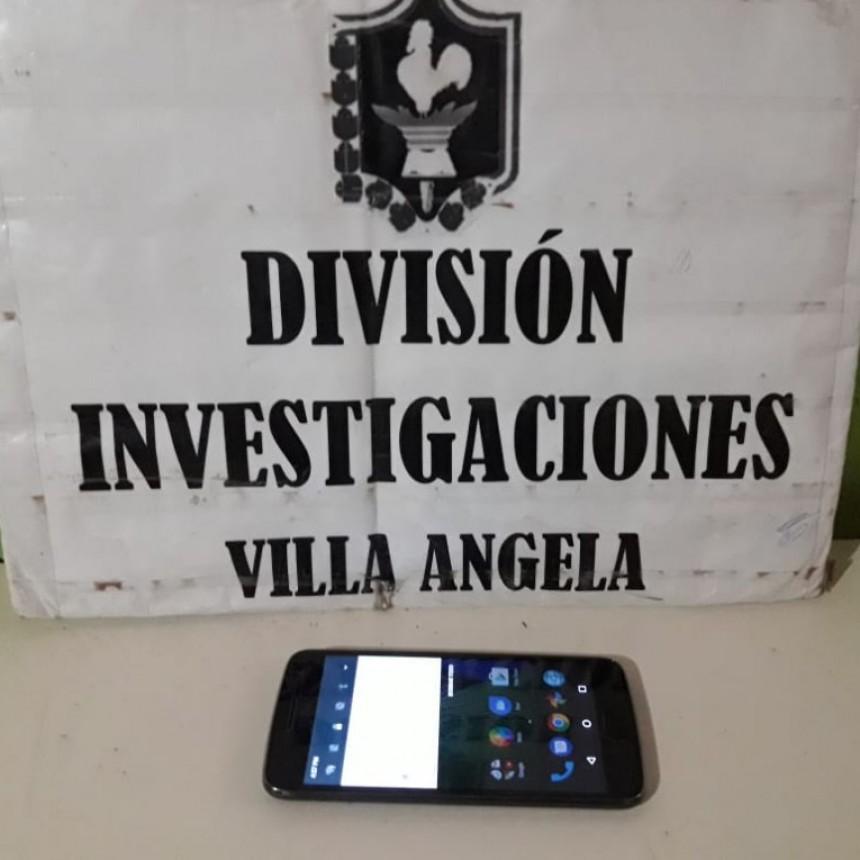 VILLA ÁNGELA: PERSONAL POLICIAL RECUPERA CELULAR ROBADO