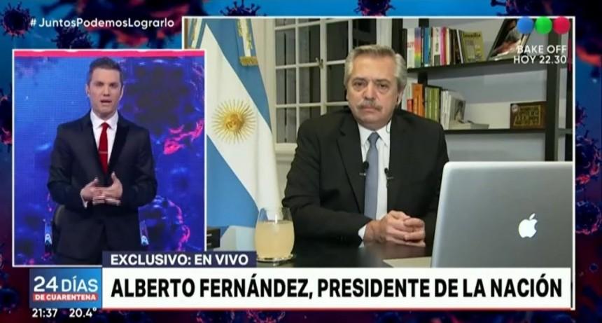 """Alberto Fernández: """"Algunos epidemiólogos dicen que la curva se está aplanando mucho, y que quizá no haya pico, sino contagios a un ritmo más lento"""