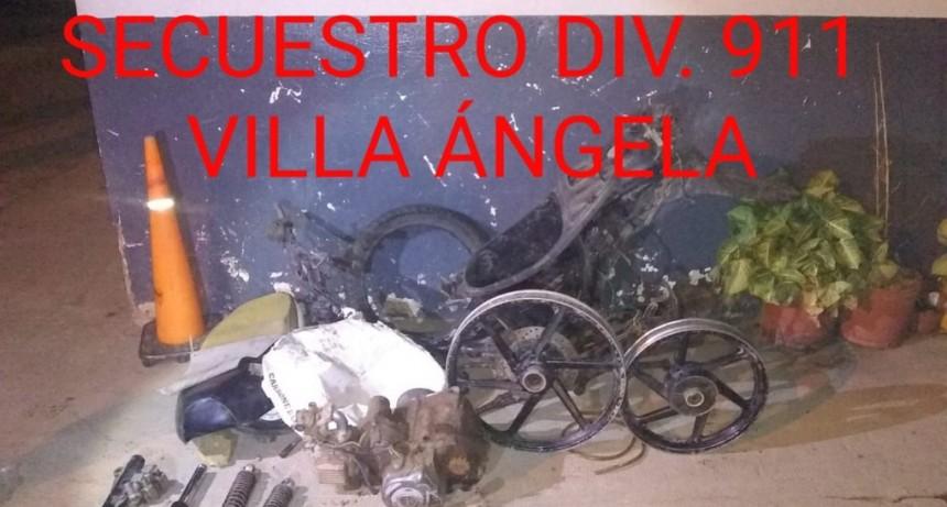 Villa Ángela: Recuperan partes de una moto robada el día de ayer.