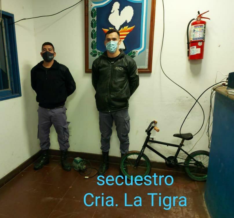 La Tigra: RECUPERAN ELEMENTOS ROBADOS Y BUSCAN A LOS PROPIETARIOS DE ALGUNO DE ELLOS.