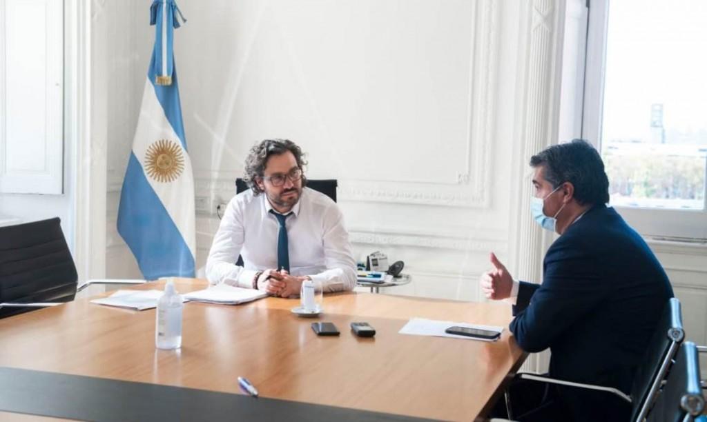 Pandemia: Capitanich se reúne con Cafiero para definir a qué medidas se sumará la provincia tras los anuncios de Alberto Fernández