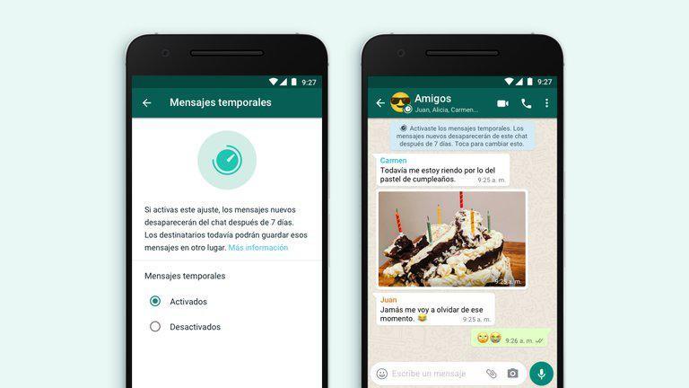 Los mensajes temporales llegaron a WhatsApp: ¿Cómo activarlos?