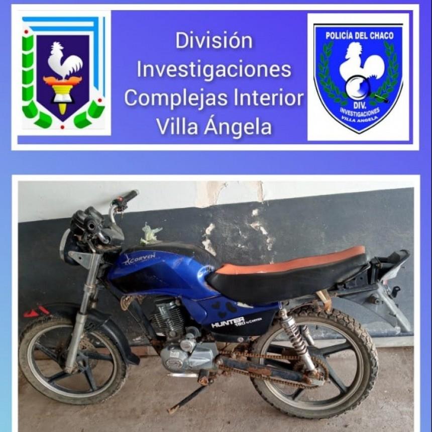 Villa Ángela: RECUPERAN UNA MOTO ROBADA EN OCTUBRE DEL 2020