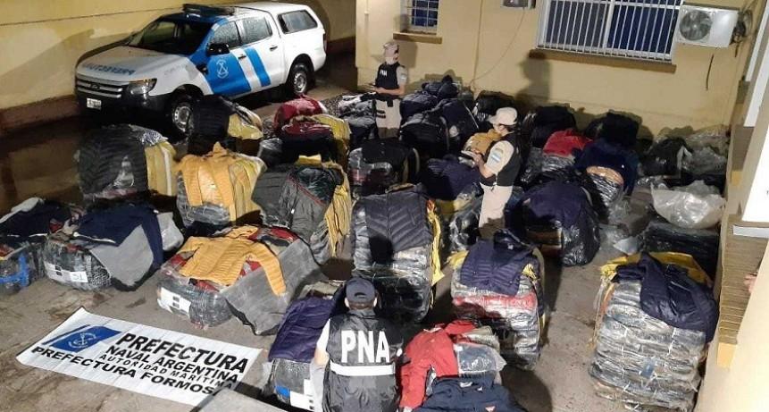 Secuestran cargamento millonario de artículos de contrabando