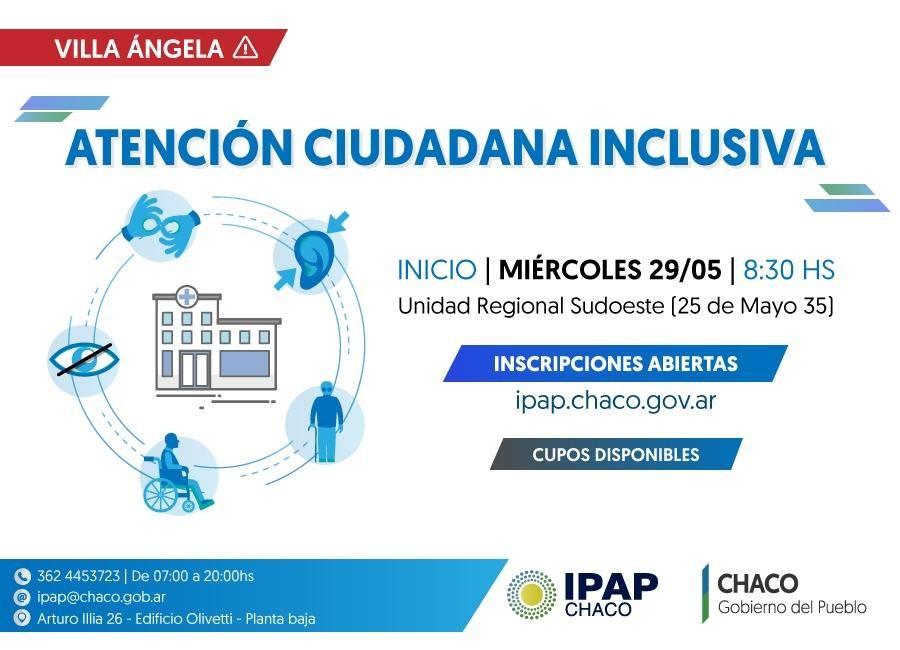 """Se encuentra Abierta la Inscripción a la Capacitación de """"Atención Ciudadana Inclusiva"""" del Ipap Chaco"""