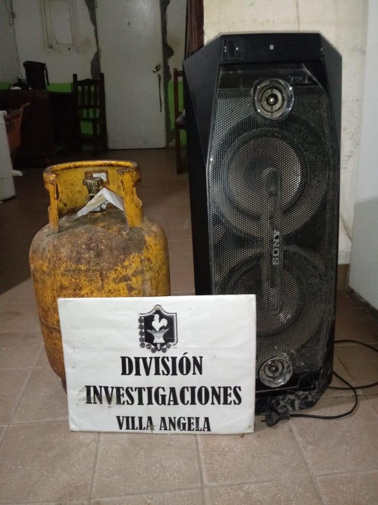 División de Investigaciones de Villa Angela detiene a autor de Varios robos y recuperan elementos reducidos.