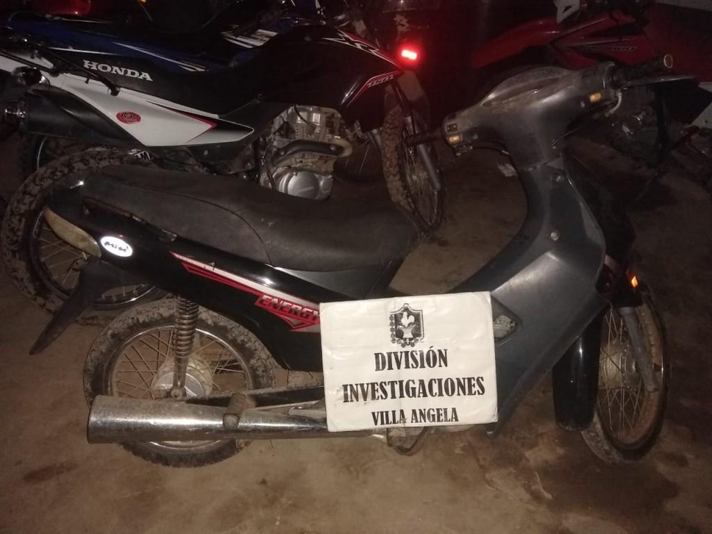 División de Investigaciones de Villa Ángela recuperó Motocicleta Robada