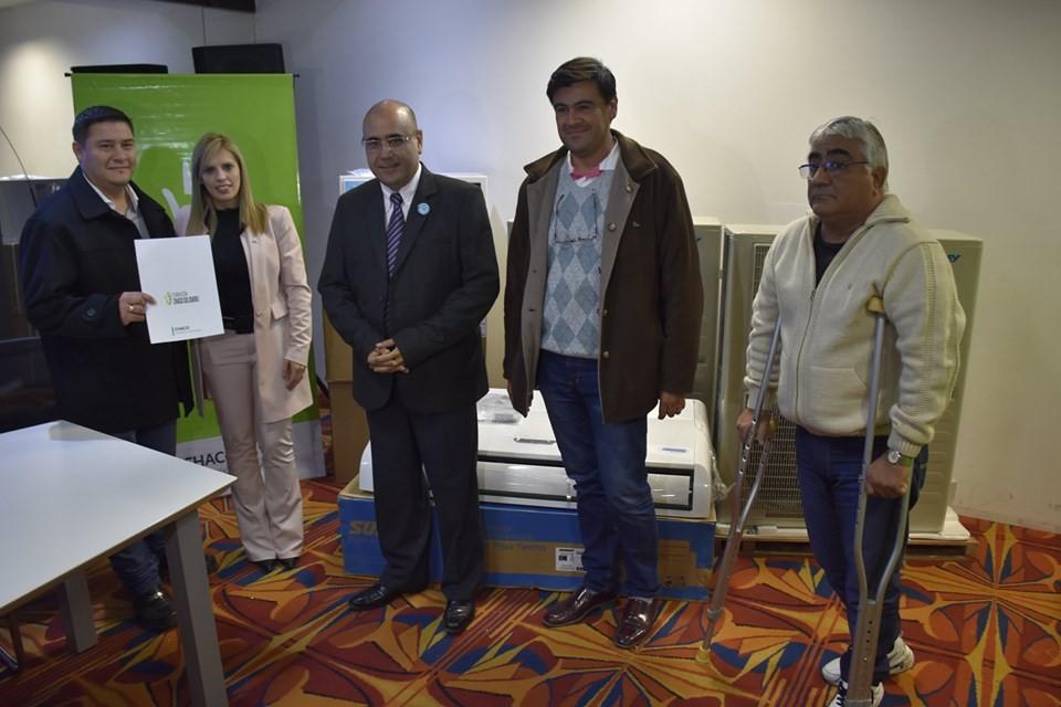 En la jornada del viernes y en el marco de las actividades desarrolladas por el 109° Aniversario de Villa Ángela, en representación de la Fundación Chaco Solidario