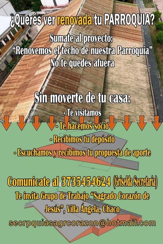 Villa Ángela: La Parroquia Sagrado Corazón de Jesús Invita a la Comunidad a Sumarse como Socios y Colaborar en los Beneficios para la Refacción de su Edificio