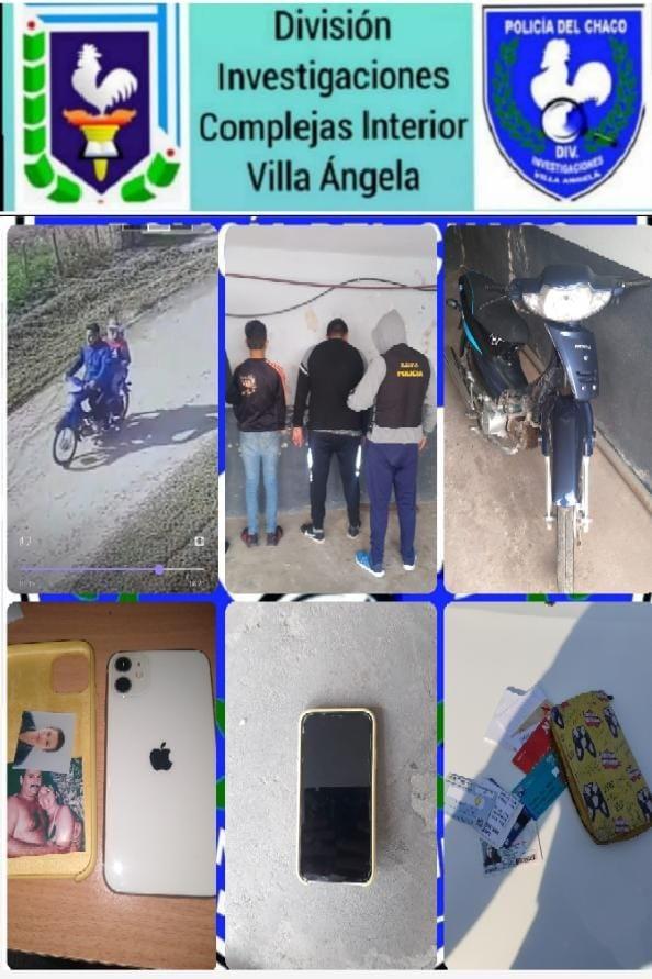 Villa Ángela: Delincuentes con frondosos antecedentes Arrebataron  con violencia la Mochila a una Joven en inmediaciones del Complejo Educativo