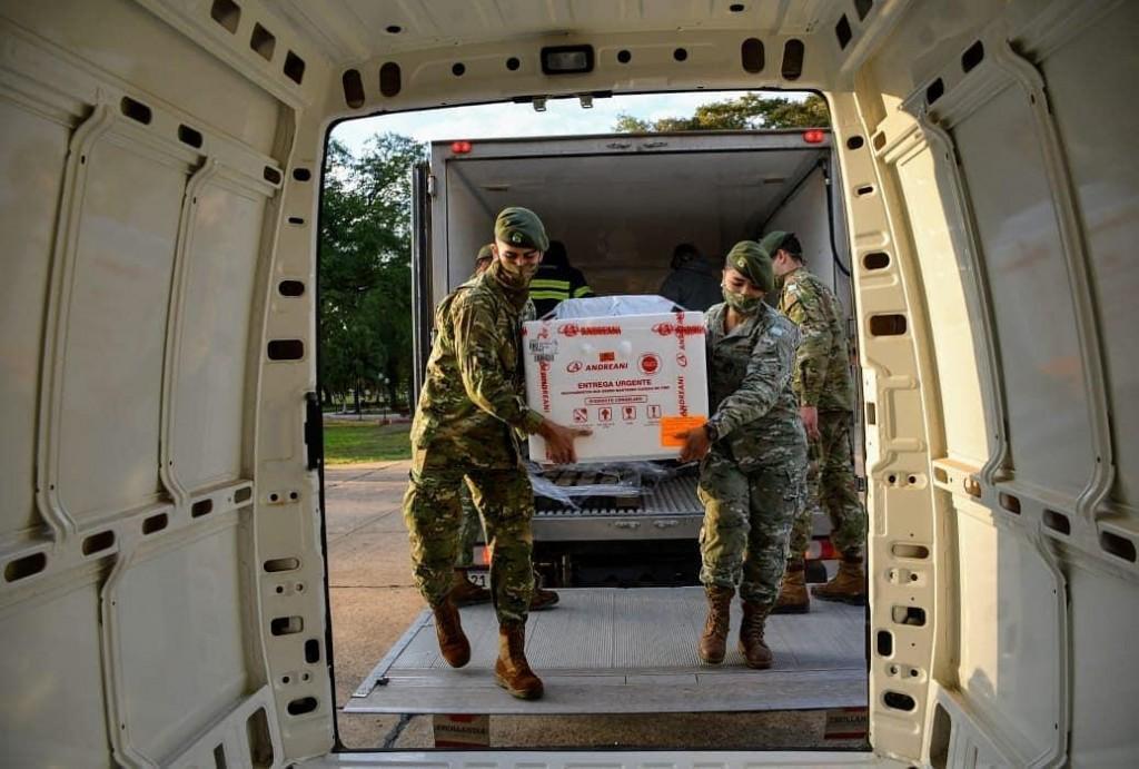 Arribaron las 13.200 vacunas Sputnik V al Chaco