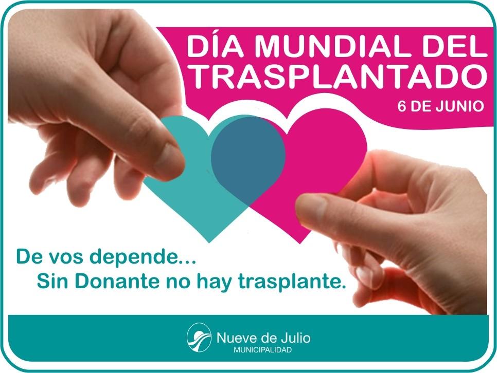 6 de junio Día Mundial de los Pacientes Trasplantados.