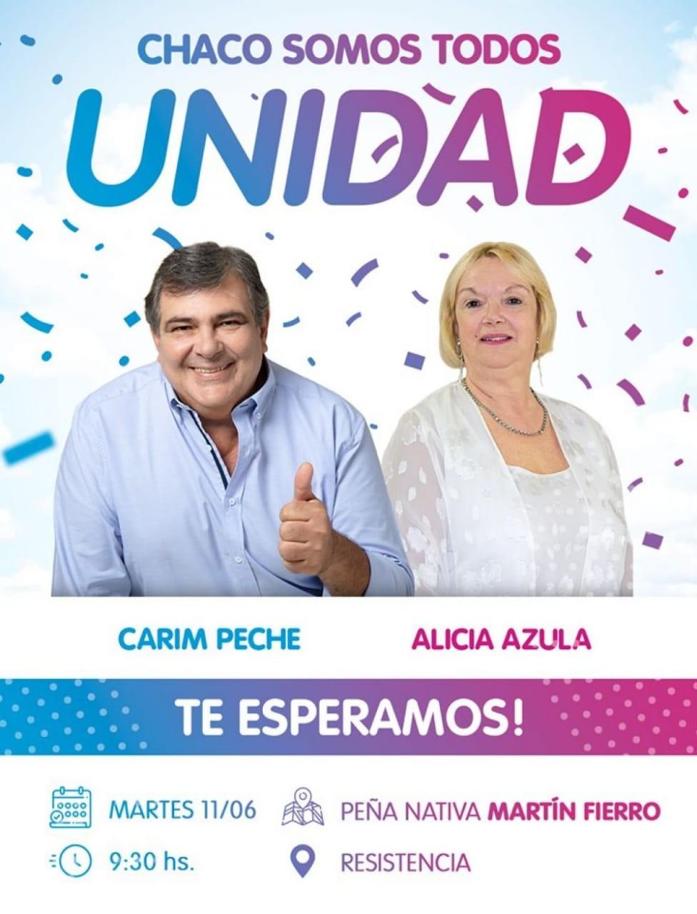 Elecciones en Chaco: Carim Peche y Alicia Azula será la fórmula a Gobernador de la UCR