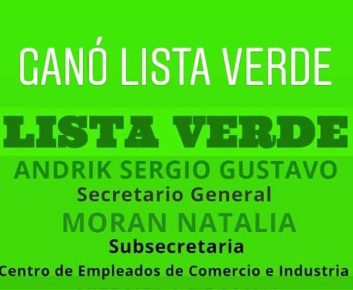 Elecciones de empleados de Comercio: Gano Lista verde