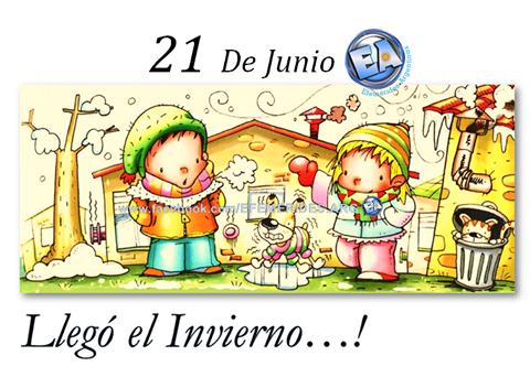 21 DE JUNIO COMIENZA EL INVIERNO...
