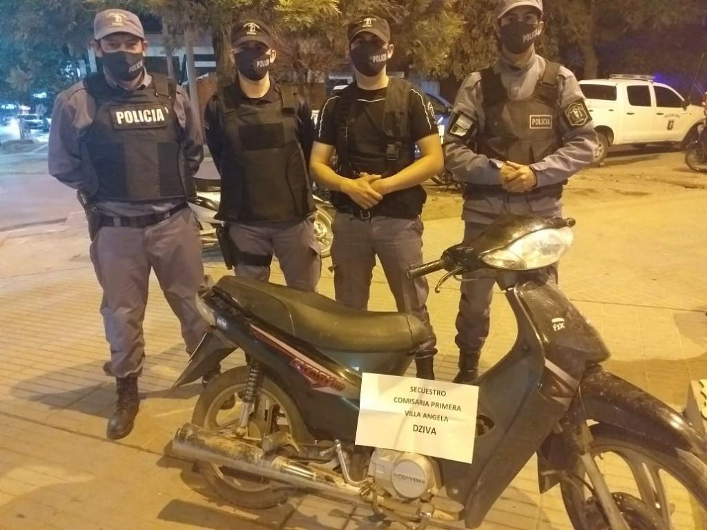 Villa Ángela: EL PERSONAL POLICIAL RECUPERÓ UNA MOTO CON PEDIDO DE SECUESTRO DEL 2018