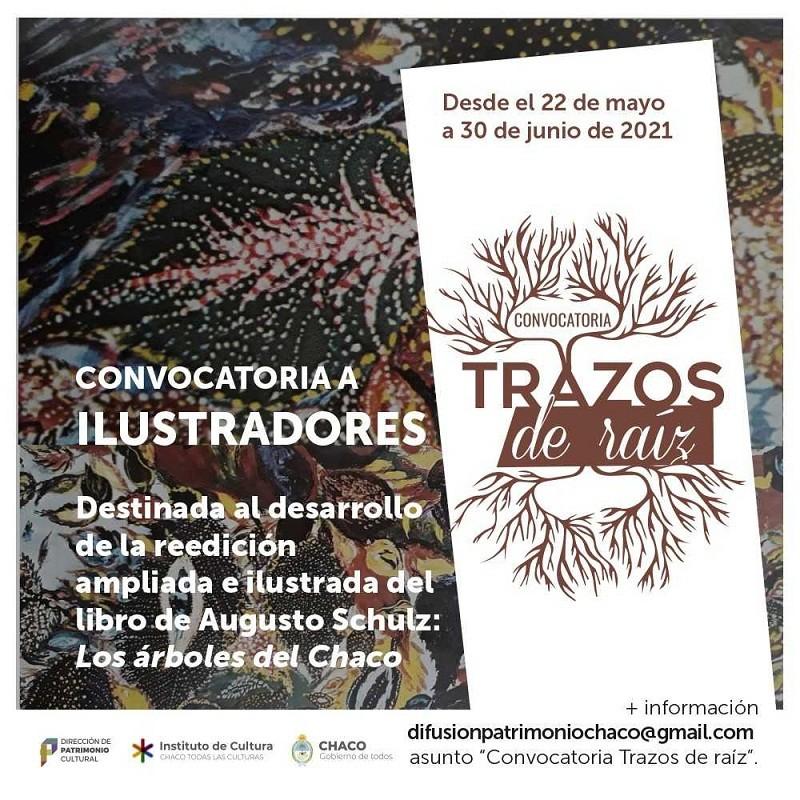 PATRIMONIO ACTIVO - Convocatoria abierta Trazos de Raíz para ilustradores e ilustradoras del Chaco