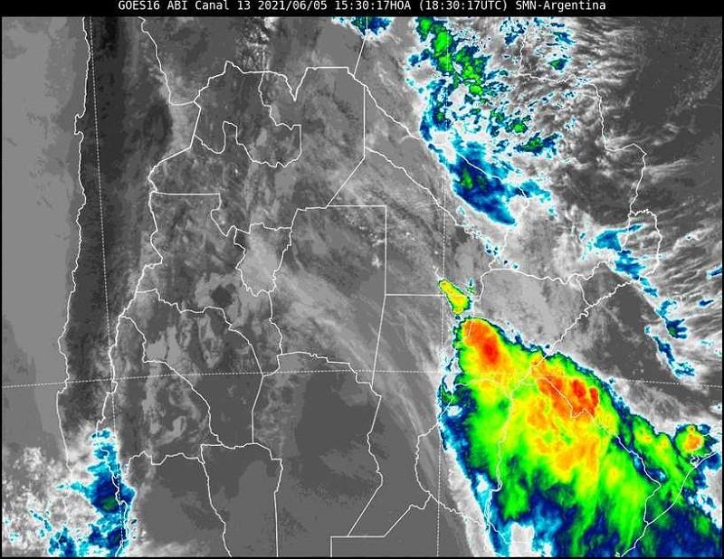 Alerta por tormentas fuertes en el sudeste provincial