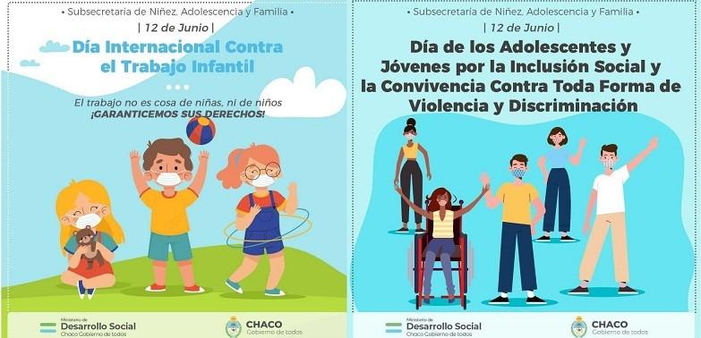 DÍA MUNDIAL CONTRA EL TRABAJO INFANTIL, Y DE LOS JÓVENES POR LA INCLUSIÓN SOCIAL - 12 de junio, una fecha que invita a concientizar sobre derechos de niñas, niños y adolescentes