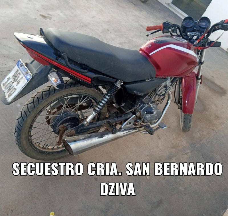San Bernardo: Gracias al Rápido Accionar de la Policía Logra Recuperar su Motocicleta Robada