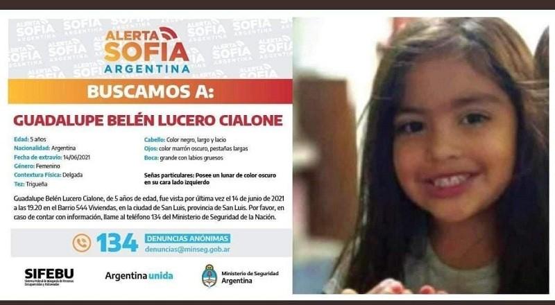 Chaco acompaña la búsqueda de la niña de 5 años desaparecida en San Luis
