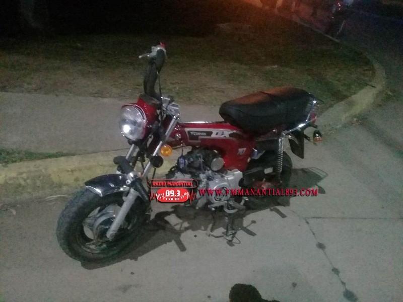 Villa Ángela: Una persona resultó  lesionada en el Choque de una Moto y un Automóvil