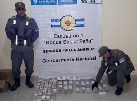 UN CORDOBÉS FUE DETENIDO EN VILLA ANGELA CON 3 MILLONES DE PESOS Y NO PUDO CERTIFICAR SU PROCEDENCIA