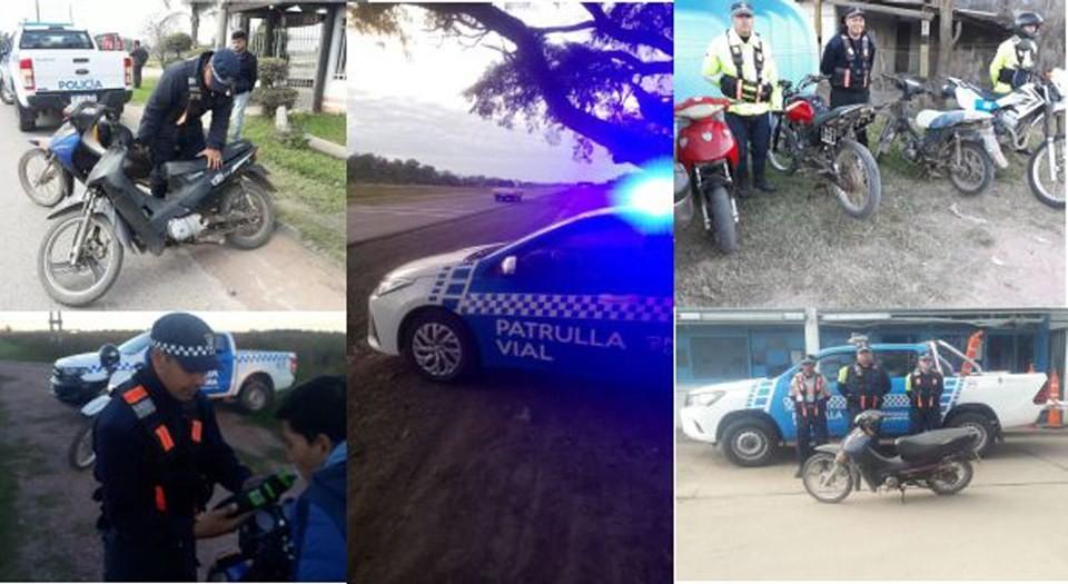 CAMINERA SECUESTRÓ 78 MOTOS Y DETECTÓ 26 CASOS DE ALCOHOL EN LA CONDUCCIÓN