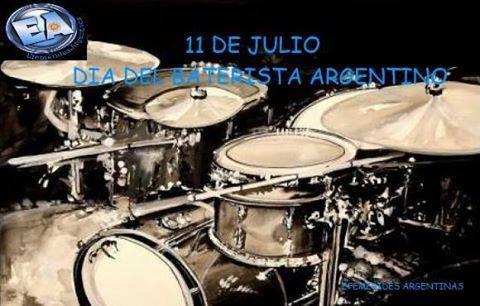 11 DE JULIO DIA DEL BATERISTA ARGENTINO