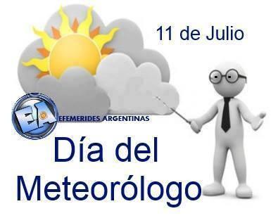 11 de Julio Día del Meteorólogo en Argentina