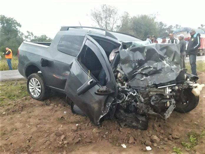 Dos muertos en brutal choque frontal en la ruta 95