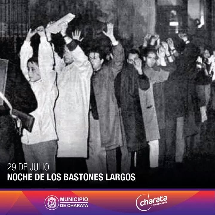 29 de julio NOCHE DE LOS BASTONES LARGOS
