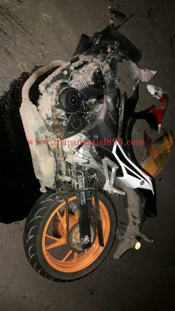 ACCIDENTE EN RUTA 95: UNA MOTO COLISIONÓ CON UN PERRO
