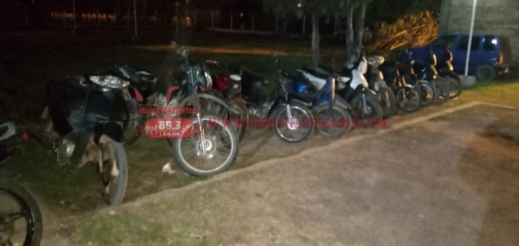 Villa Ángela: SE LABRARON ACTAS DE INFRACCIÓN A 36 PERSONAS Y SE SECUESTRARON 11 MOTOS EN OPERATIVO DE VERIFICACIÓN VEHICULAR Y PERSONAS