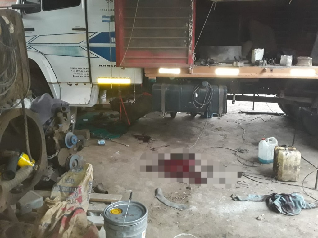 Coronel Du Graty: TRÁGICO ACCIDENTE LABORAL DEJA SIN VIDA A UN MECÁNICO