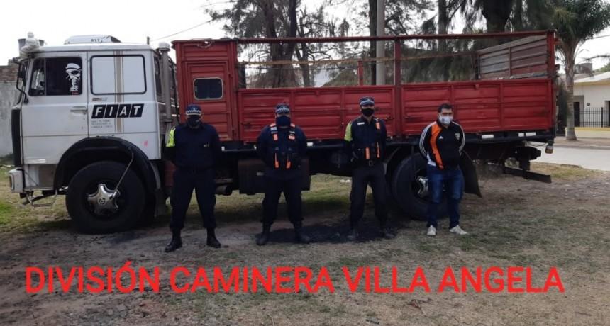 Villa Ángela: FUE A VERIFICAR SU CAMIÓN PARA TRANSFERIRLO Y TENÍA UN PEDIDO DE SECUESTRO EN MENDOZA